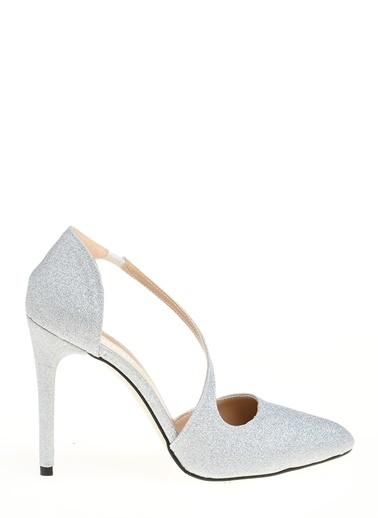 D by Divarese İnce Topuklu Ayakkabı Gümüş